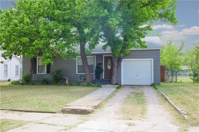 Brownwood Single Family Home Active Option Contract: 2711 Elizabeth Drive