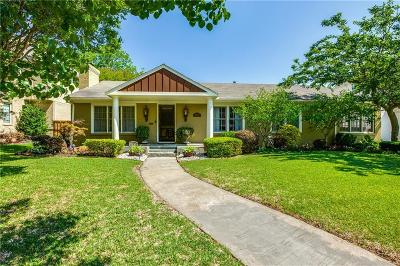 Dallas Single Family Home For Sale: 6817 Deloache Avenue