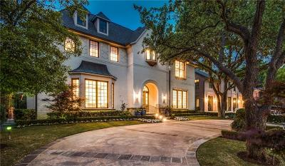 Dallas, Highland Park, University Park Single Family Home For Sale: 4005 Greenbrier Drive
