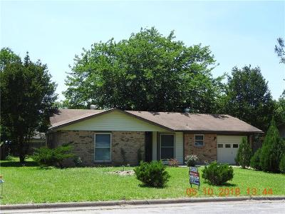 Terrell Single Family Home Active Option Contract: 849 Betty Drive