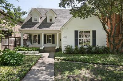 University Park TX Single Family Home For Sale: $1,450,000
