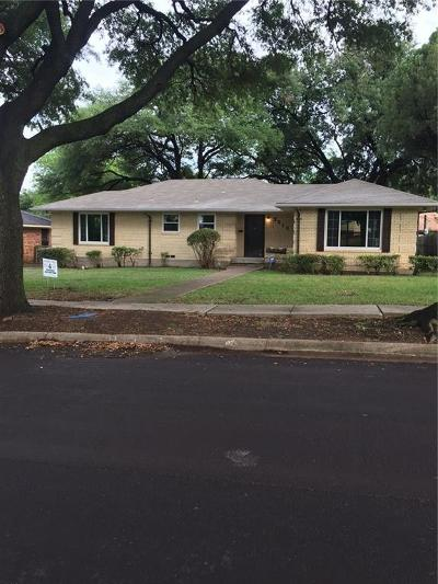 Dallas Single Family Home For Sale: 2212 Sutter Street