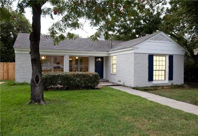 Fort Worth Single Family Home Active Option Contract: 6344 Malvey Avenue