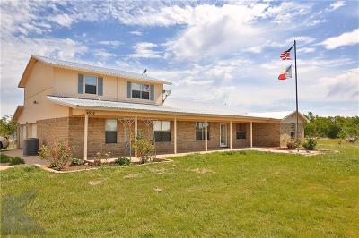 Abilene Single Family Home For Sale: 4536 Iberis Road