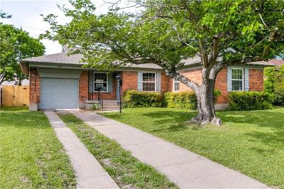 Dallas Single Family Home Active Option Contract: 2509 San Medina Avenue