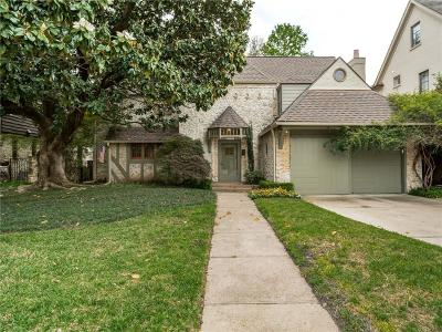University Park Single Family Home For Sale: 4205 Shenandoah Street
