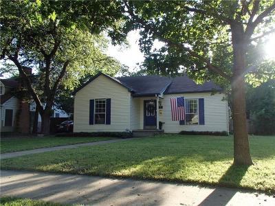 Irving Single Family Home Active Option Contract: 415 S Delaware Street