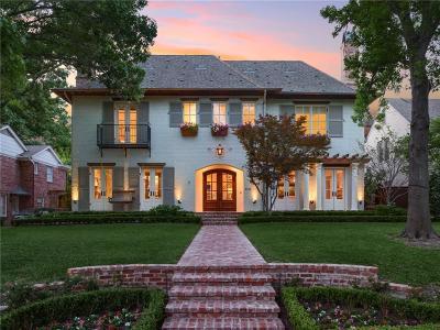 Dallas, Highland Park, University Park Single Family Home For Sale: 3224 Hanover Street