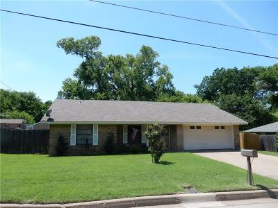 Weatherford Single Family Home Active Contingent: 219 Case Street