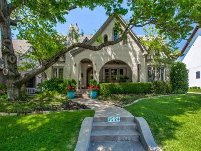 University Park Single Family Home For Sale: 3524 McFarlin Boulevard