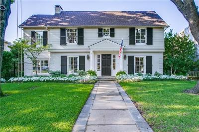 Dallas, Highland Park, University Park Single Family Home For Sale: 3509 Bryn Mawr Drive