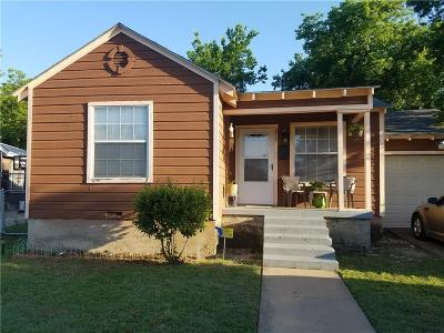 Fort Worth Single Family Home Active Option Contract: 2712 Thannisch Avenue