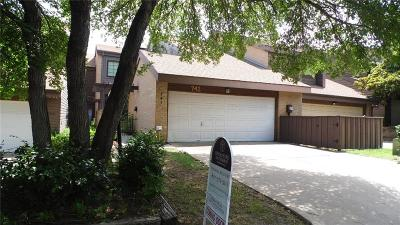 Dallas, Fort Worth Townhouse For Sale: 741 Oakwood Trail