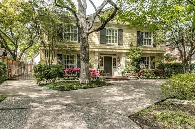 University Park Single Family Home For Sale: 4308 McFarlin Boulevard