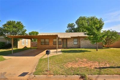 Abilene Single Family Home For Sale: 4702 Edgemont Drive