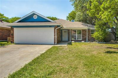 Saginaw Single Family Home Active Option Contract: 1124 W Hills Terrace