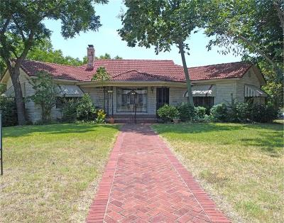 North Fort Worth Single Family Home Active Option Contract: 1403 NW 19th Street