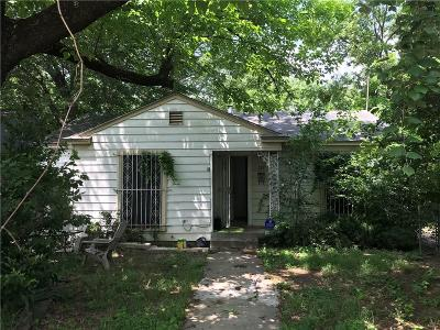 Fort Worth Single Family Home Active Option Contract: 317 N Retta Street