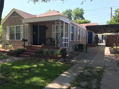 Fort Worth Single Family Home Active Option Contract: 4336 Calmont Avenue