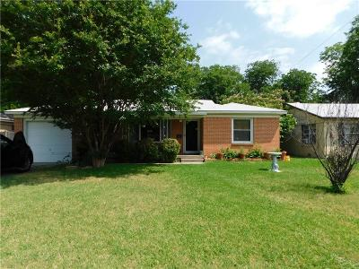 Fort Worth Single Family Home Active Option Contract: 5420 Volder Drive