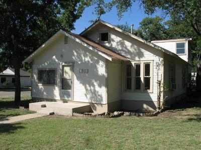 Brownwood Single Family Home For Sale: 1813 12th Street