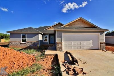 Abilene Single Family Home For Sale: 329 Hog Eye Road