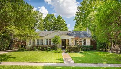 Dallas Single Family Home For Sale: 5614 W Hanover Avenue