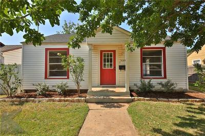 Abilene Single Family Home Active Option Contract: 3209 S 4th Street