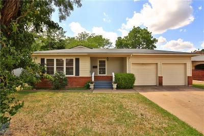 Abilene Single Family Home For Sale: 650 Briarwood Street