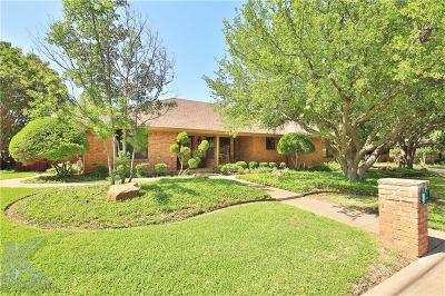 Abilene Single Family Home Active Option Contract: 2701 Meadow Lake Drive