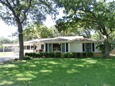 Azle Single Family Home Active Option Contract: 1101 Carpenter Street