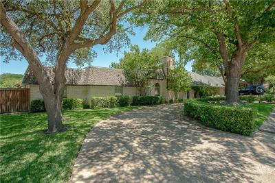 Dallas Single Family Home Active Option Contract: 9219 Whitehurst Drive