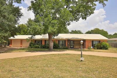 Abilene Single Family Home For Sale: 809 S Leggett Drive