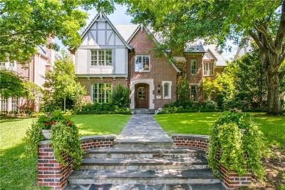 University Park Single Family Home For Sale: 3312 Centenary Avenue