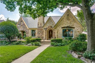 Dallas Single Family Home For Sale: 5510 McCommas Boulevard