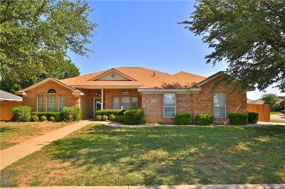 Abilene Single Family Home Active Option Contract: 5102 Rusty Trail