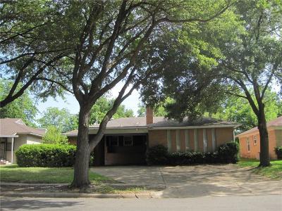 Dallas Single Family Home For Sale: 3114 San Vicente Avenue