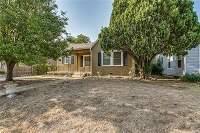 Fort Worth Single Family Home Active Option Contract: 5305 Pershing Avenue