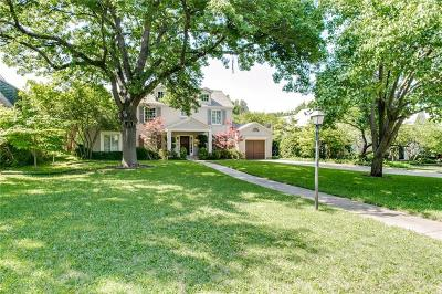 Allen, Dallas, Frisco, Plano, Prosper, Addison, Coppell, Highland Park, University Park, Southlake, Colleyville, Grapevine Single Family Home For Sale: 5330 Montrose Drive