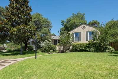 Dallas Single Family Home For Sale: 6747 Alexander Drive
