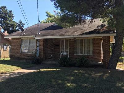 Dallas Single Family Home Active Contingent: 814 Winters Street