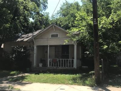 Dallas TX Single Family Home For Sale: $37,900