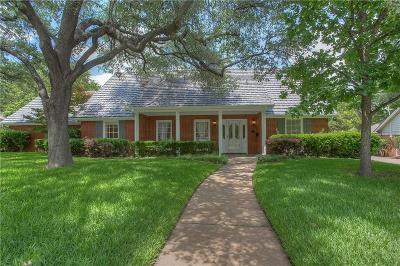 Overton Park Add, Overton Woods Add, Tanglewood Single Family Home For Sale: 4412 Ranch View Road