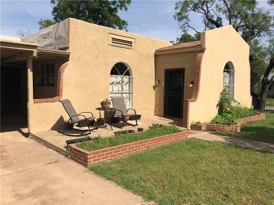 Abilene Single Family Home For Sale: 1102 Grand Avenue