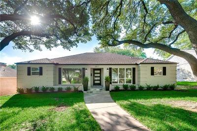 Dallas TX Single Family Home For Sale: $729,900