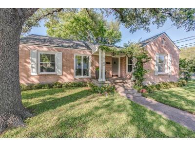 Dallas Single Family Home For Sale: 5104 Vandelia Street