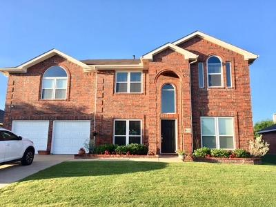 Wylie Single Family Home For Sale: 1626 Rushing Way