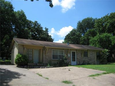 Mesquite Single Family Home Active Option Contract: 2436 Lindale Lane