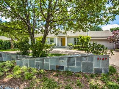 Dallas, Fort Worth Single Family Home For Sale: 5147 Horseshoe Trail