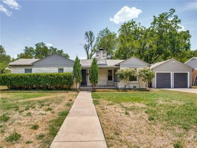 Fort Worth Single Family Home For Sale: 3521 Plymouth Avenue